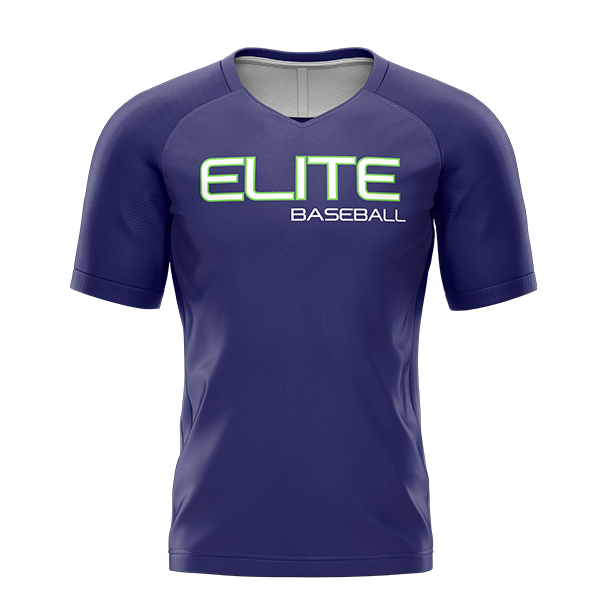 Elite Baseball Custom Sublimated Home Short Sleeve Workout Shirt Option #2