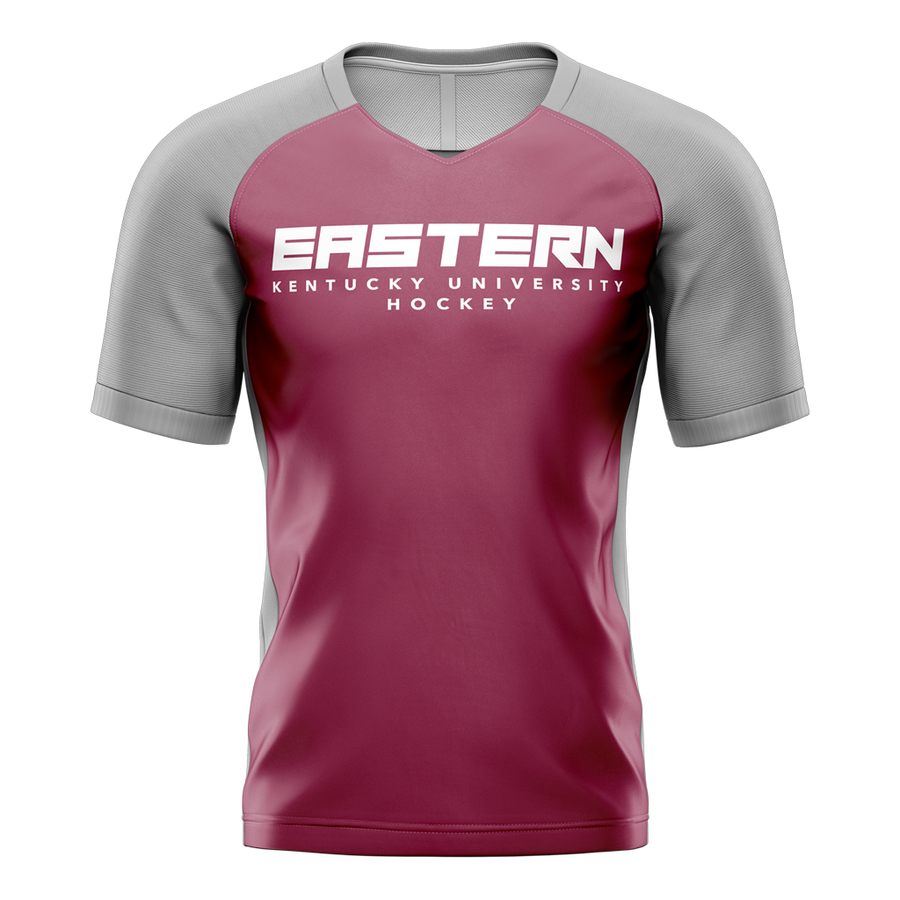 Eastern Kentucky University Custom Sublimated Home Short Sleeve Workout Shirt