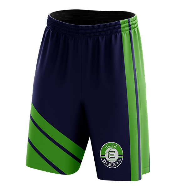 Elite Baseball Custom Sublimated Home Workout Shorts