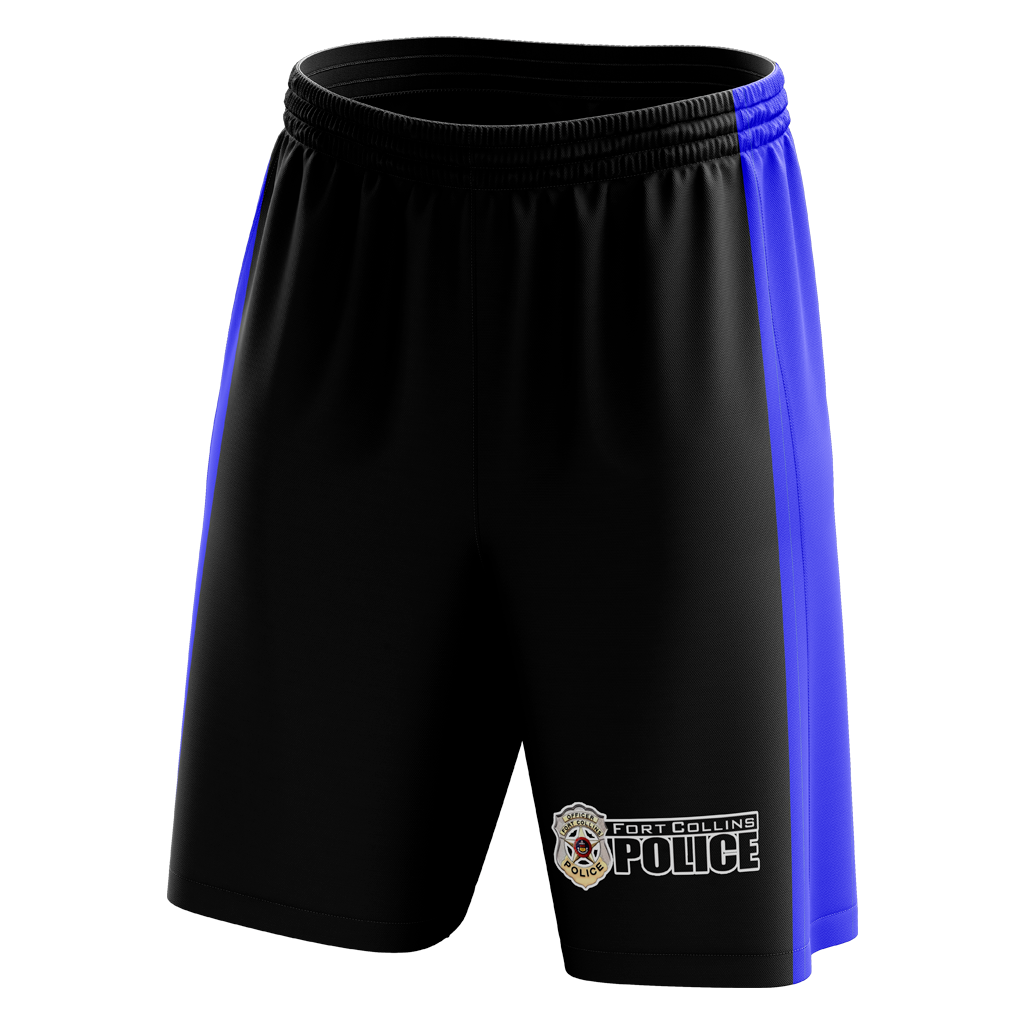 Fort Collins Police Department Custom Sublimated Home Workout Shorts