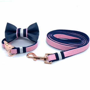 Peony collar, leash and bow tie - Happy Tails