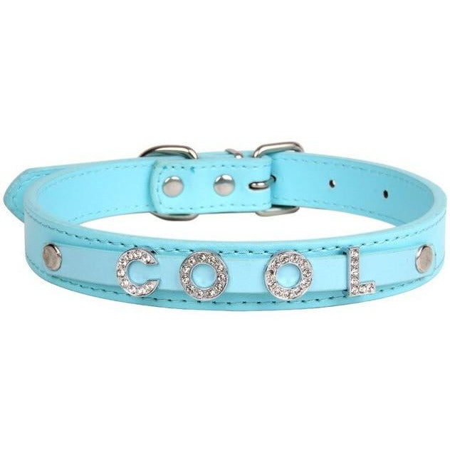 Personalized Name Dog/Cat Collar with Rhinestones - Happy Tails