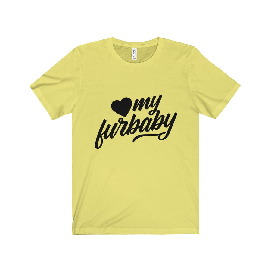 Love my Furbaby Jersey Short Sleeve Tee for Pet Lovers - Happy Tails