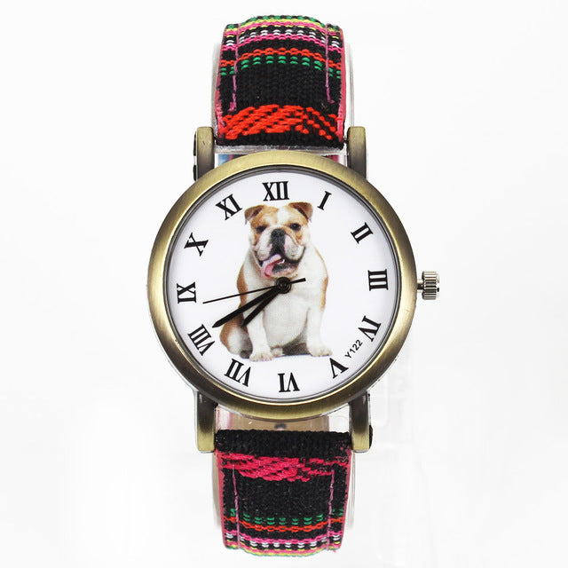 Bulldog Large Pet Dog Watch - Happy Tails