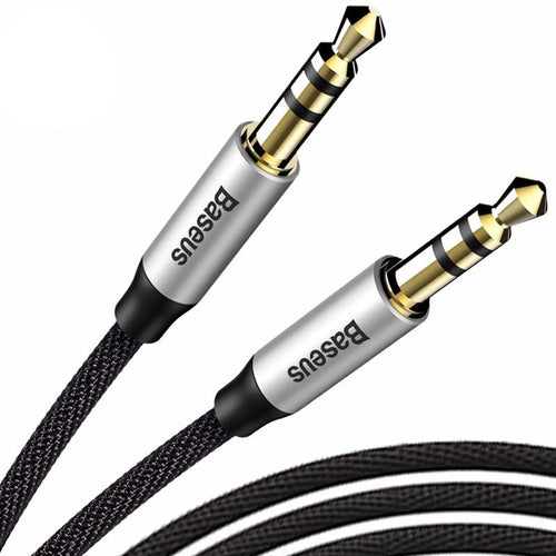 Baseus Gold Plated Aux Cable jack 3.5 Audio Cable for iPhone 3.5mm Jack Male to Male Cable aux for Car MP3 MP4 Headphone Speaker