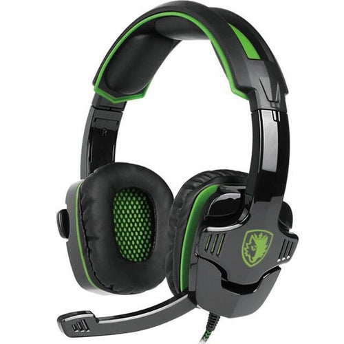 SADES SA930 3.5mm Gaming Headset Computer Headphone with Mic Noise Cancelling for Mac/Xbox One/Cell Phone/Ps4/Tablet(Green)