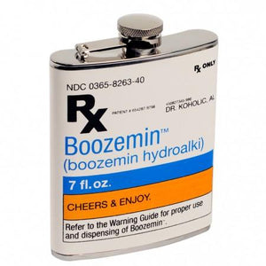 RX Prescription Boozemin Flask