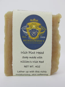 Irish Pint Head (soap made with Killian's Irish Red)