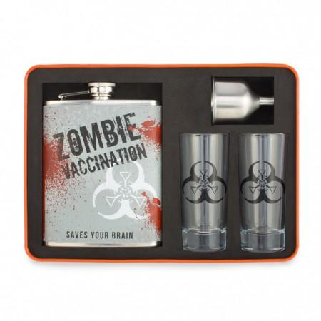 Zombie Cocktail Bar Set with Flask and Shot Glasses