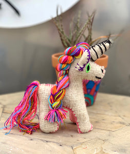 Unicornio wool doll