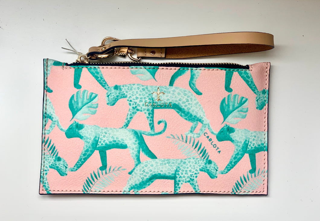 Jaguar wristlet / clutch