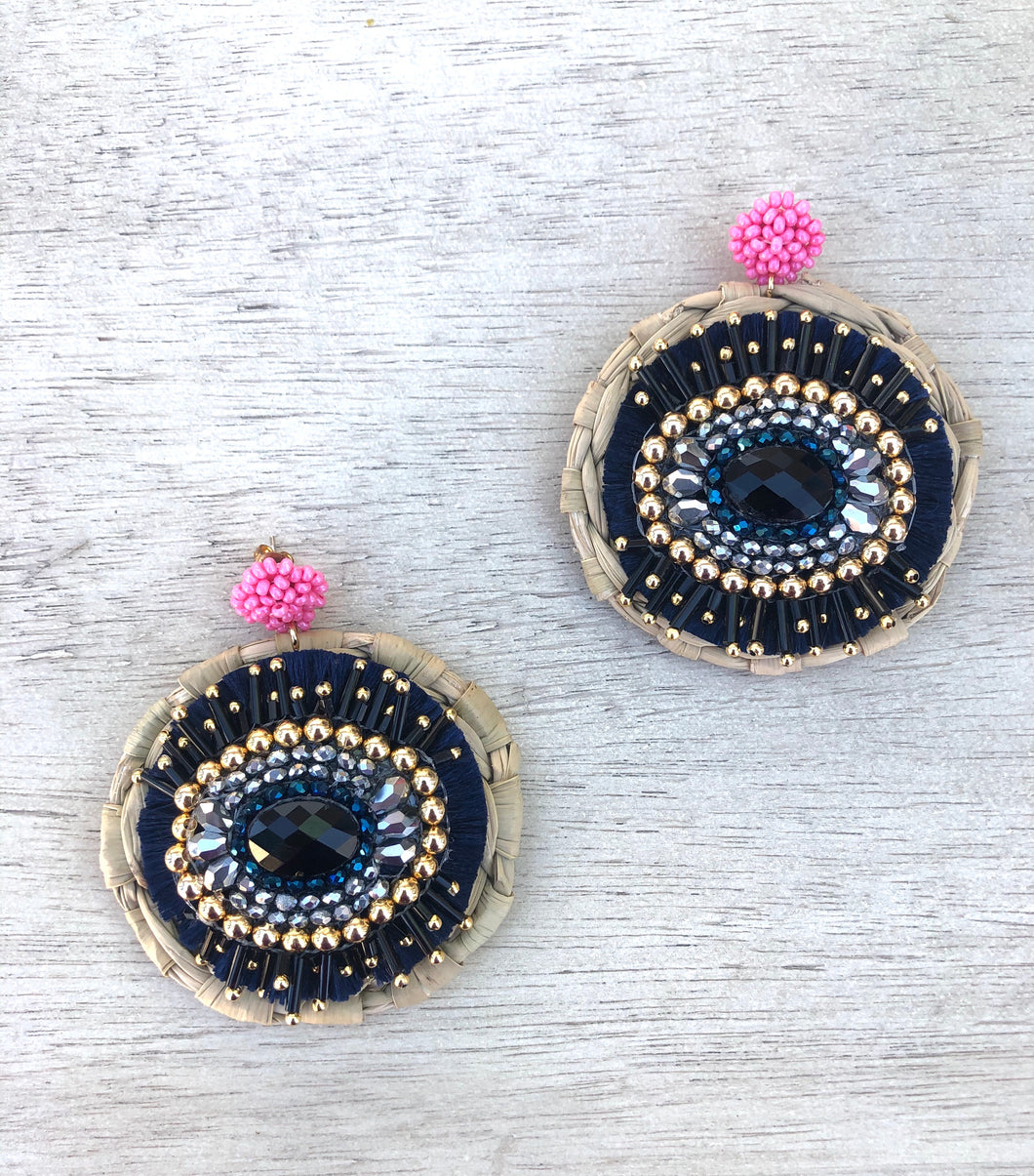 Ojo azul earrings