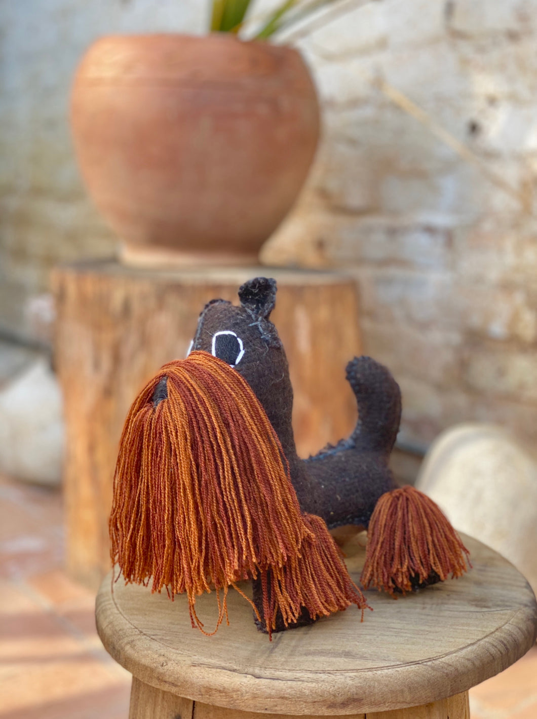 Doggie wool doll