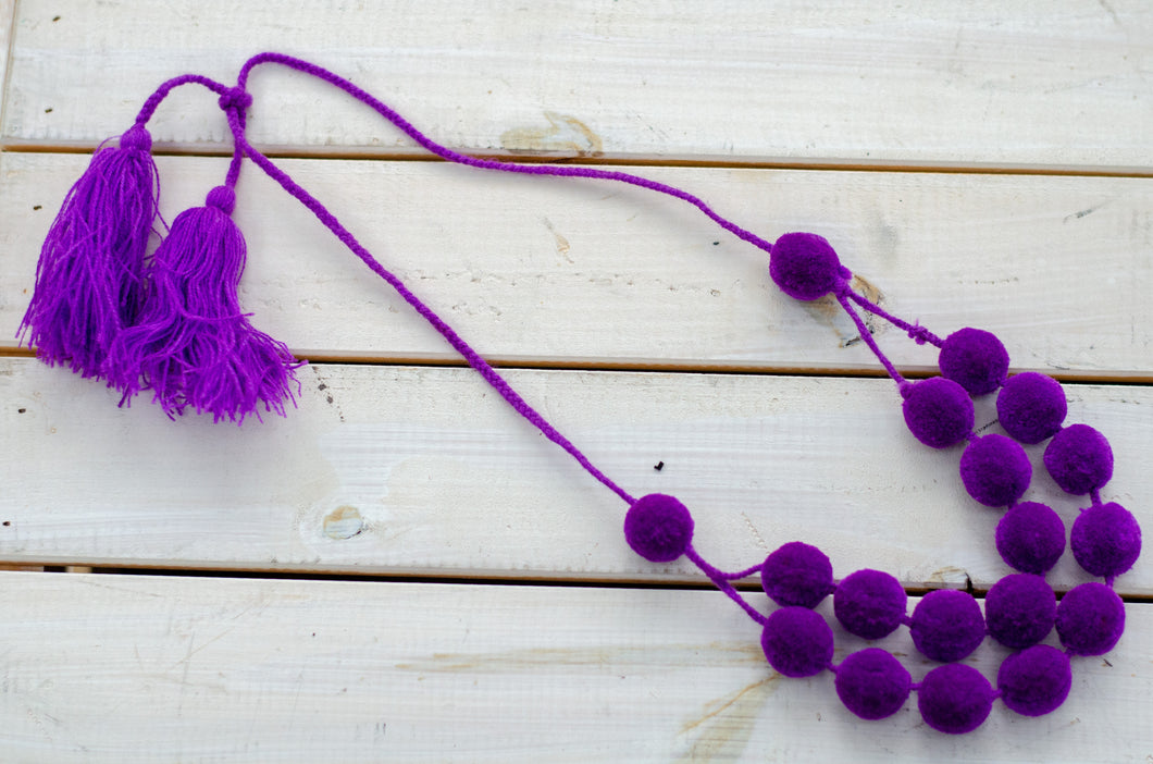 Uva pompom necklace