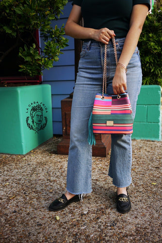 Sarape bucket bag