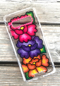 Flores Samsung s10 plus case