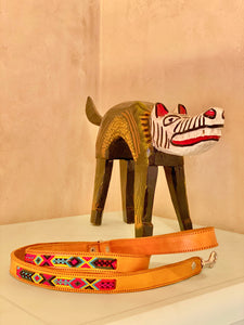 Artisan handwoven leather leash