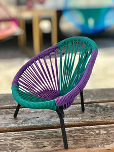 Mini Acapulco chair (purple/teal)