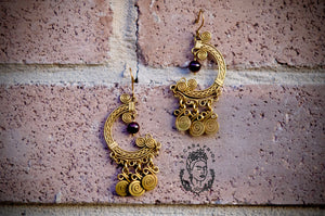 Agata artisan earrings
