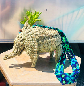 Elephant handwoven bag