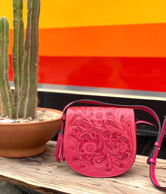 Camelia leather crossbody