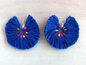 Azul iris earrings