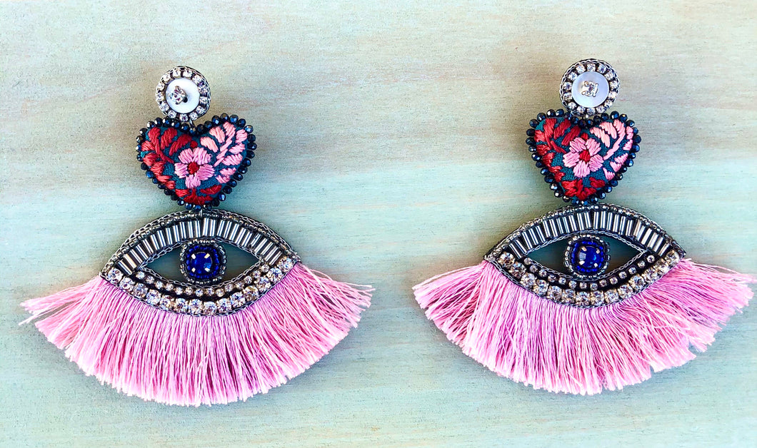 Ojos diamantes earrings