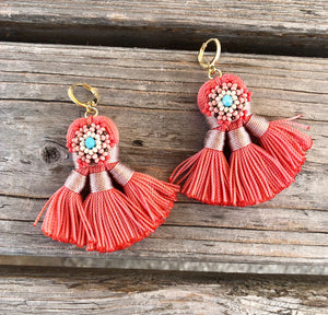 Chimalli tassel earrings