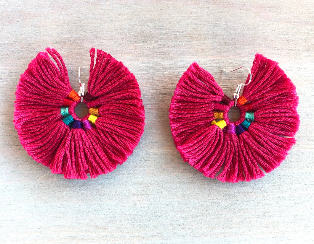Rosa iris earrings