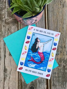 La sirena greeting card