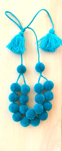 Mare pompom necklace