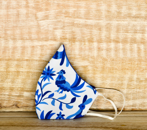 Otomi azul face mask