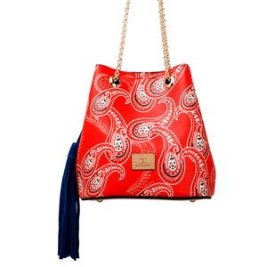 Paliacate rojo mini bucket bag