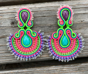 Abanico Lavanda earrings