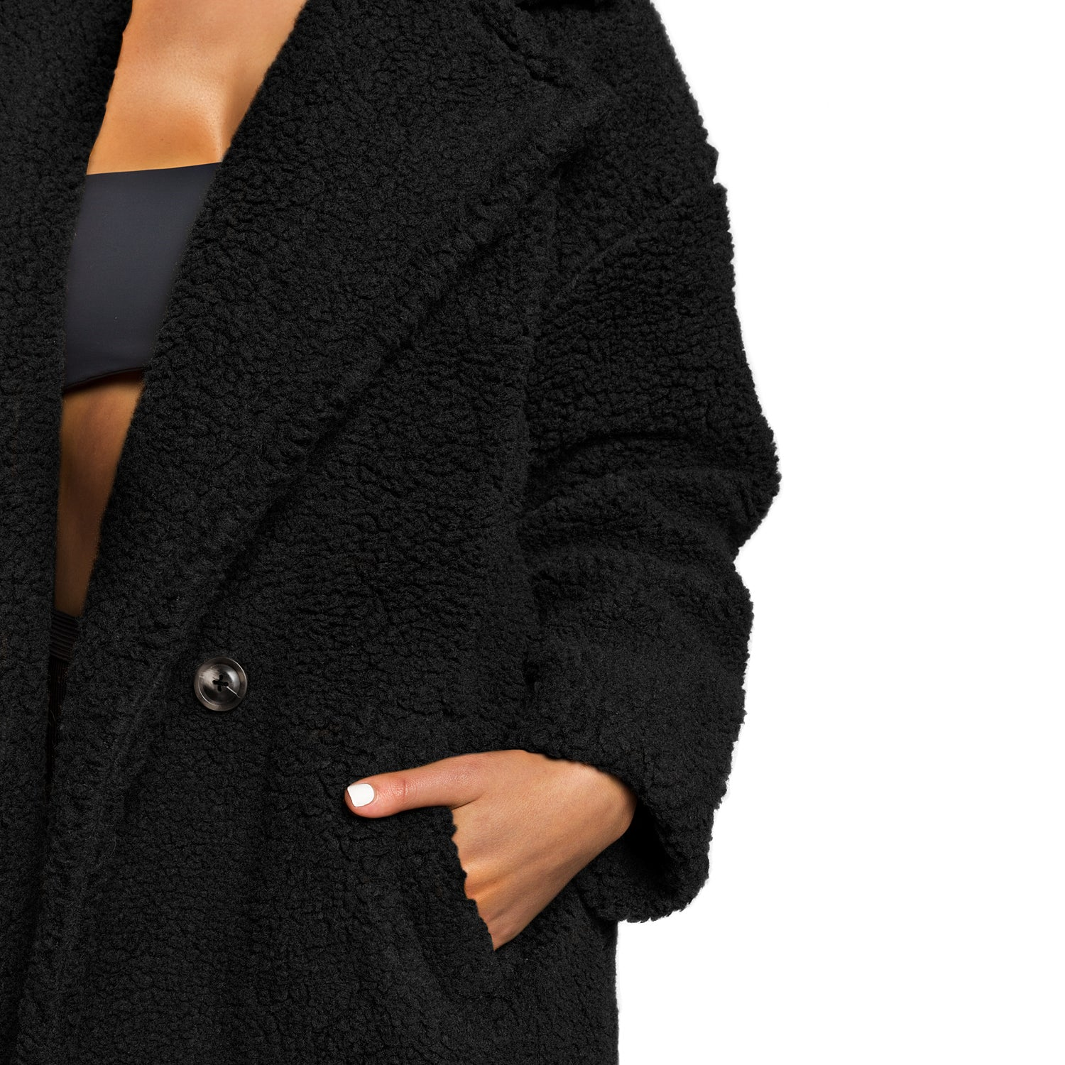 The Teddy Coat (Black)