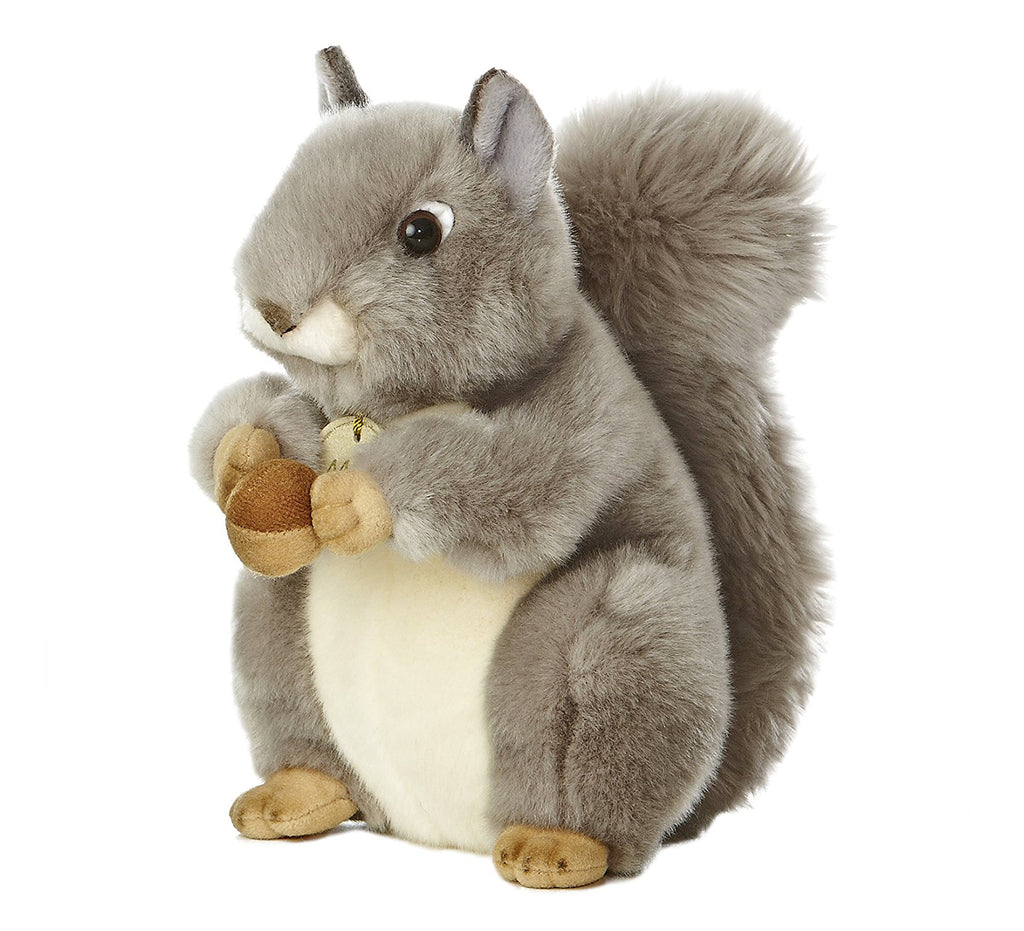 "Aurora Wildlife Miyoni Grey Squirrel 10"" Plush Toys"