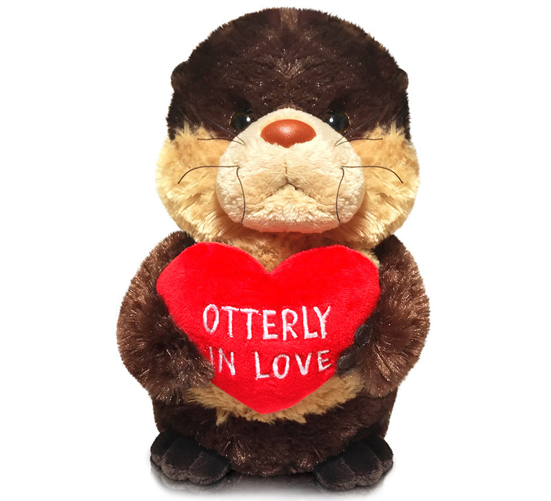 "Aurora Val Sayings_Otterly in Love 9"" Plush Toys"