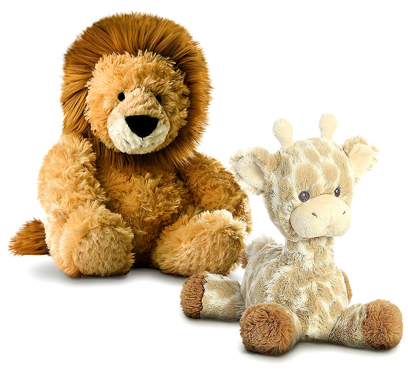 "Warp Gadgets Aurora Tubbie Wubbies Lion 12"" And Loppy Giraffe 11"" High Quality Plush (2 Items Included) Plush Toys"