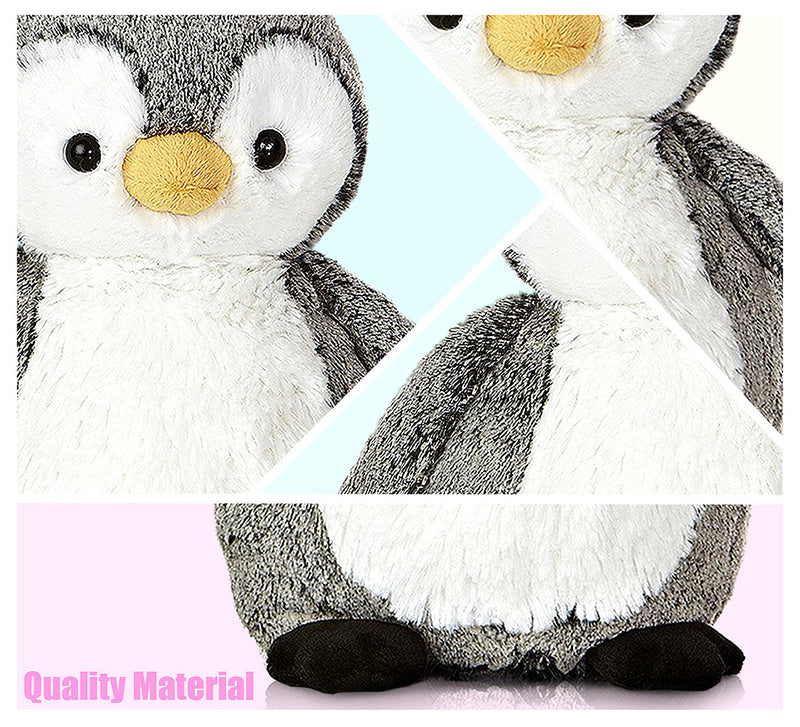 "Mini Flopsies Snowy Owl 8"" and Sweet and Softer Perky Penguin 9.5"" High Quality Plush (2 Items)"