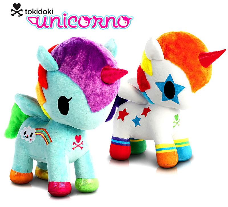 "Warp Gadgets Aurora Tokidoki Bowie Unicorno 11"" And Tokidoki Pixie Unicorno 11"" High Quality Plush Toys (2 Items Included) Plush Toys"