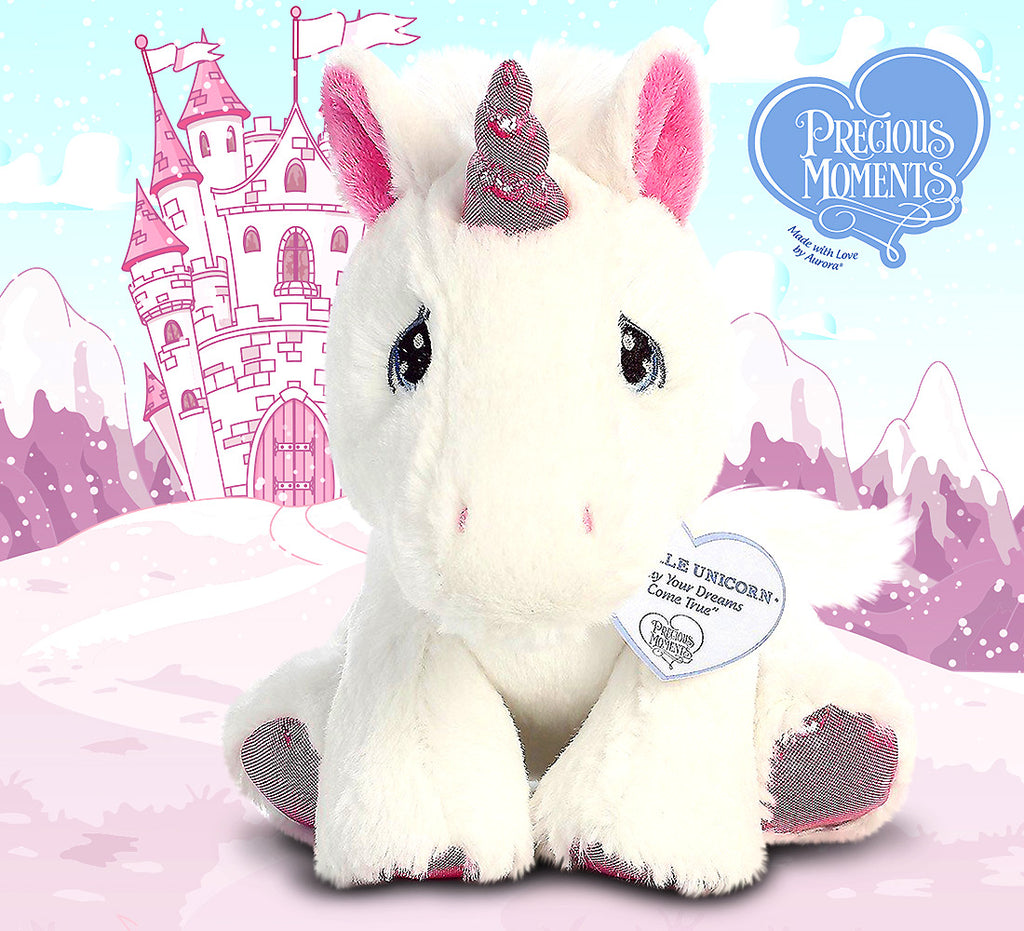 "Precious Moments Sparkle Unicorn 8.5"" High Quality Plush"
