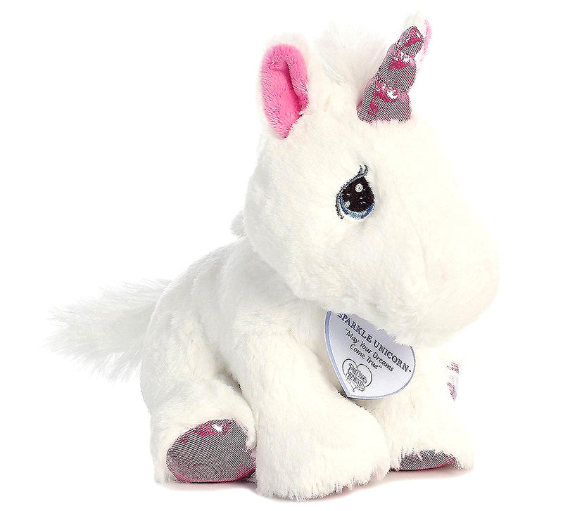 "Bright Fancies Blueberryripple Unicorn 7"" and Psparkle Unicorn 8.5"" High Quality Plush"