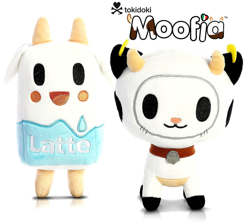 "Aurora 7.5"" Tokidoki Moofia Bocconcino and 7.5"" Moofia Latte High Quality Plush"