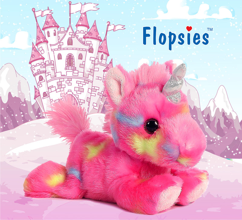 "Bright Fancies Blueberryripple Unicorn and Bright Fancies Jellyroll 7"" Unicorn High Quality Plush"