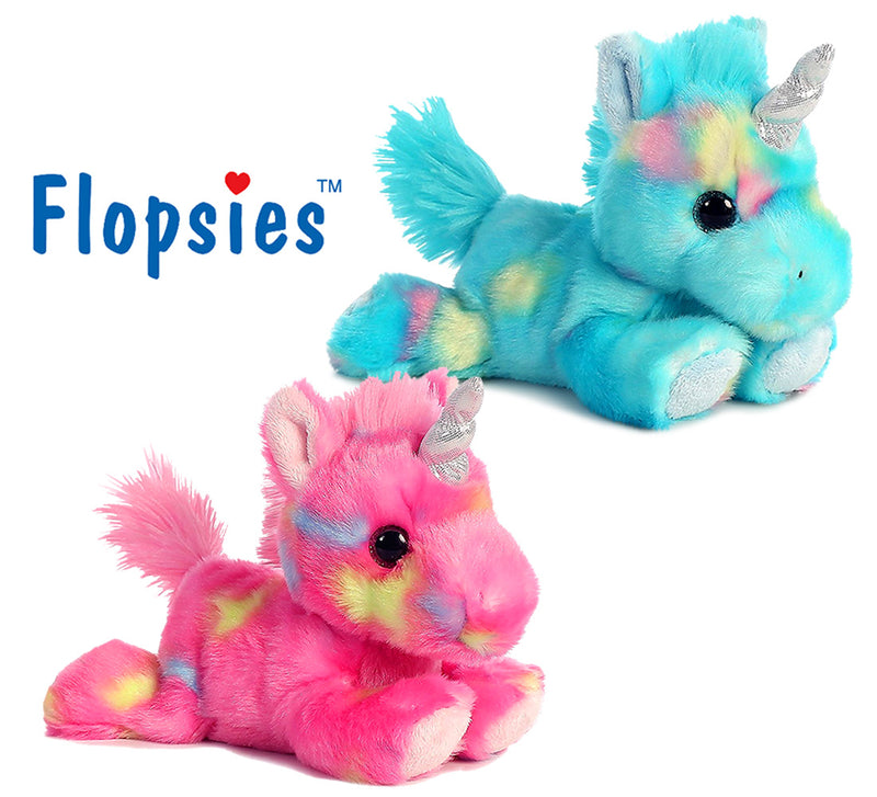 "Aurora Aurora Bright Fancies Blueberryripple Unicorn And Bright Fancies Jellyroll 7"" Unicorn High Quality Plush Plush Toys"