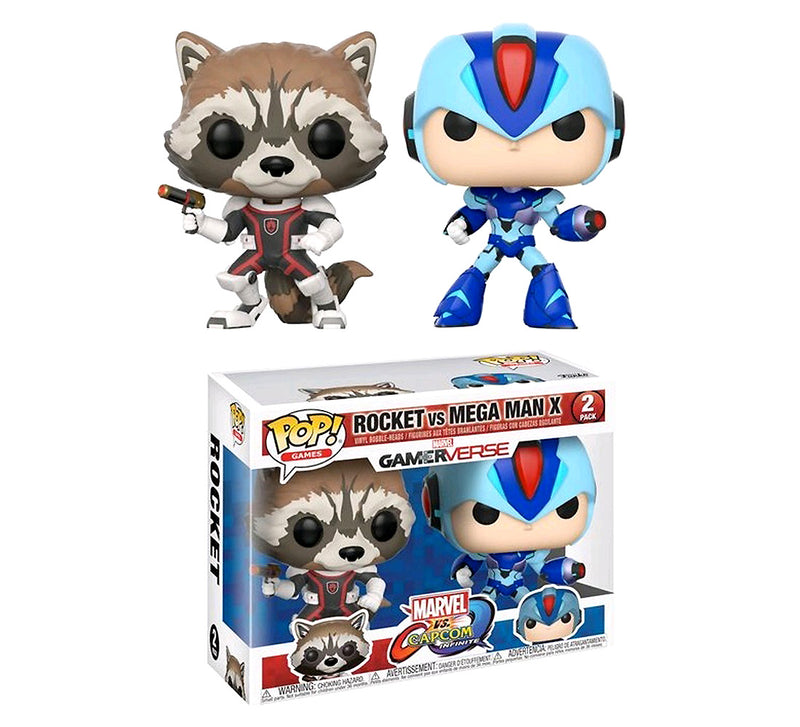 POP Games Rocket and Megaman Action Figure. Sold by WarpGadgets.com