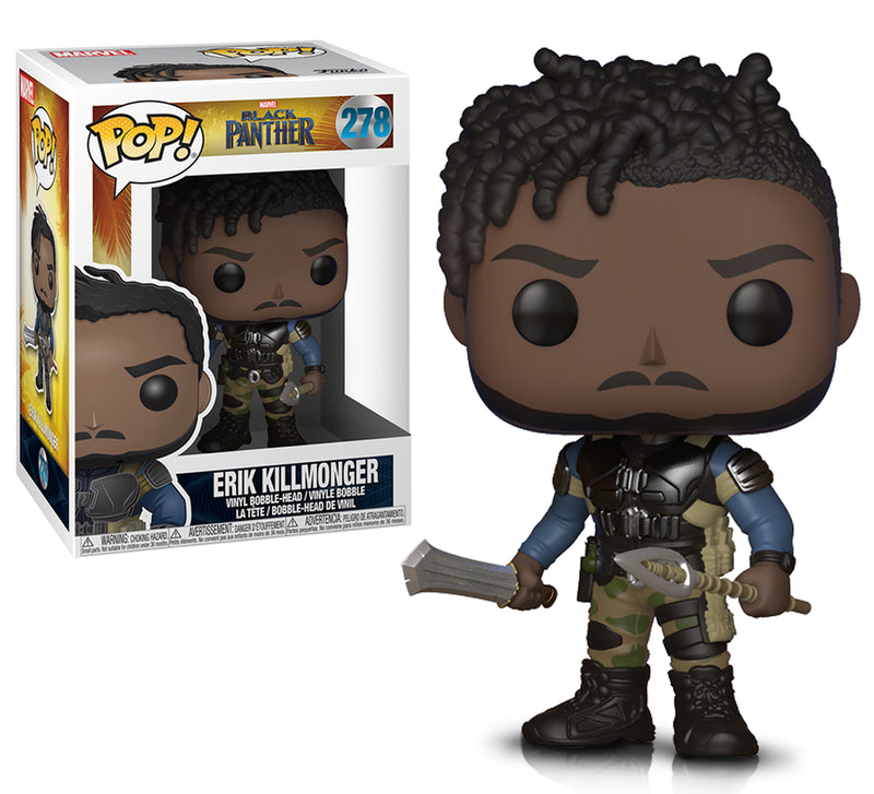 Marvel Black Panther Killmonger Action Figure. Sold by WarpGadgets.com