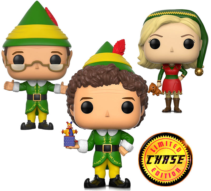 Funko Pop Movie Elf Buddy With Chase elf Special Edition, Jovie Elf Outfit Papa Elf action figure