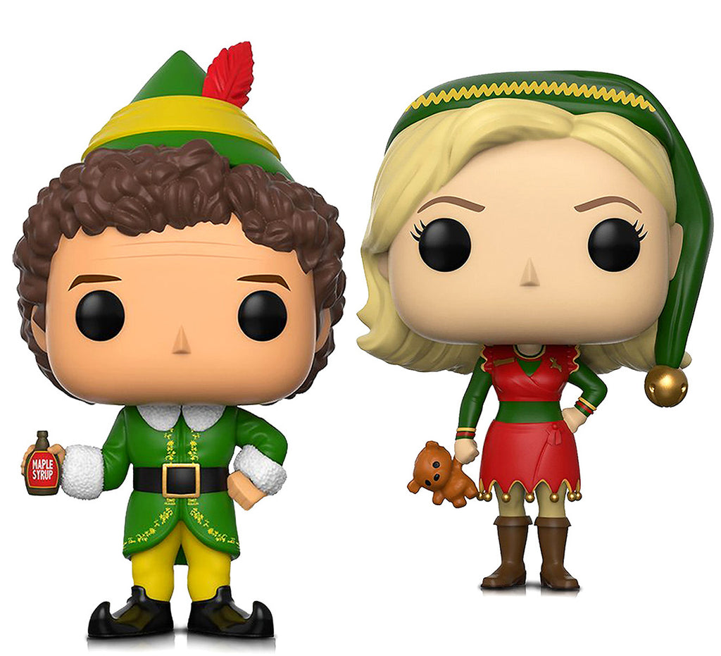 Funko Pop Movies Elf Buddy and Jovie Elf Outfit Action Figures