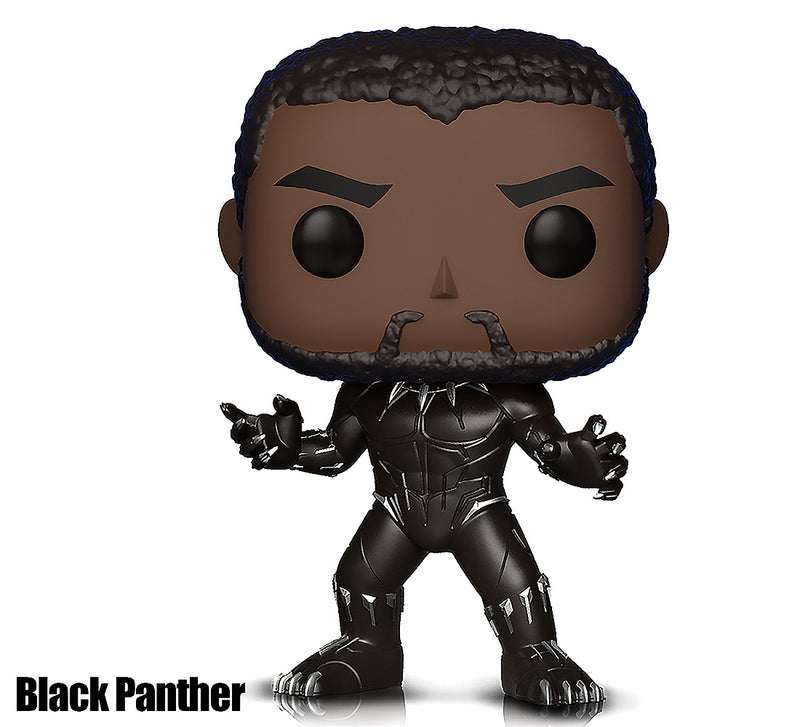 Pop Marvel Black Panther and Captain America Action Figures